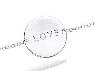 Bracelet argent pastille Love