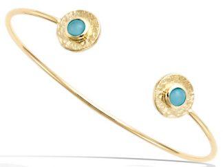 bracelet jonc plaqué or antique amazonite
