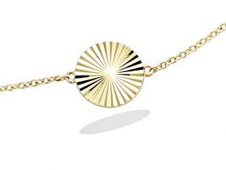 Bracelet plaqué or ronde diamanté
