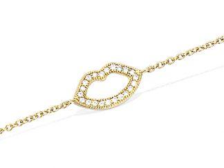 bracelet plaqué or bouche