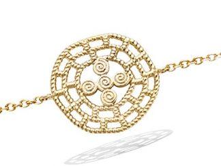 Bracelet plaqué or ajourée texturée