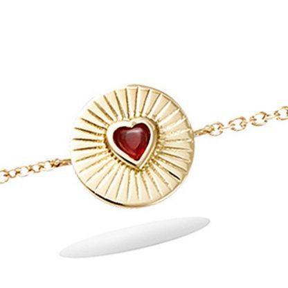 Bracelet ronde coeur rouge