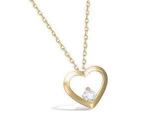 Collier coeur ajourée or