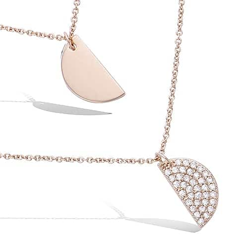 Collier or demi pastille oxydes