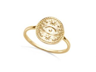 Bague or oeil antique