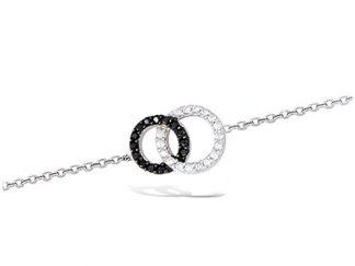 Bracelet argent cercle entrelacs