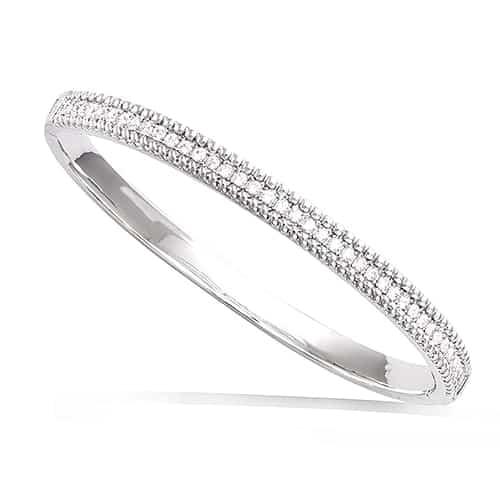 Bracelet jonc argent ligne spirale