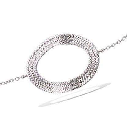 Bracelet argent ovale évidée