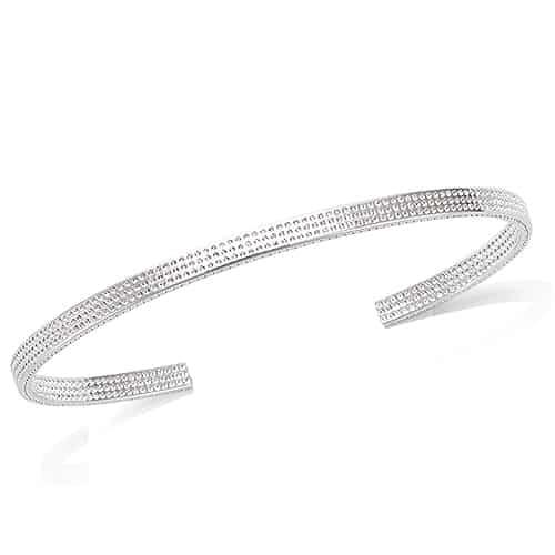 Bracelet jonc argent pointillée