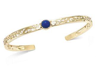 Bracelet jonc or bleu foncée