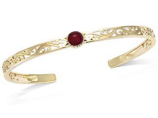 Bracelet jonc or rouge foncée
