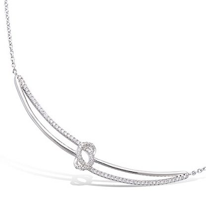Collier argent noeud oxydes