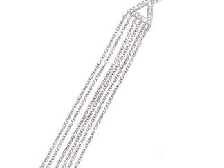 Collier argent triangle chainette
