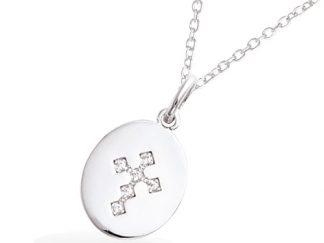 Pendentif argent médaille croix