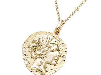 Pendentif or déesse grecque
