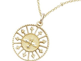 Pendentif or ajourée colombe
