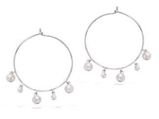 Créole argent pampilles perles