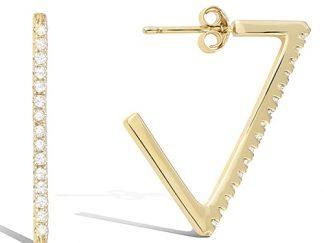 Boucle oreille or créole triangle