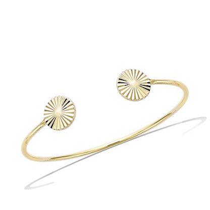 Bracelet jonc or diamanté