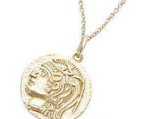 Pendentif or médaille chevalier