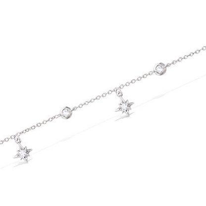 Bracelet argent étoiles oxyde