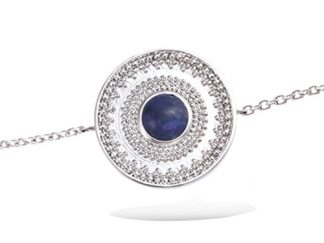 Bracelet argent boule Lapis Lazuli