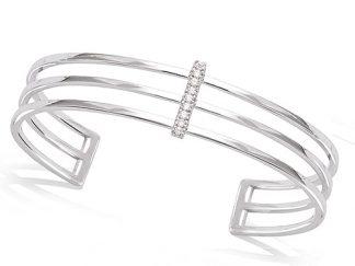 Bracelet jonc argent triple oxydes