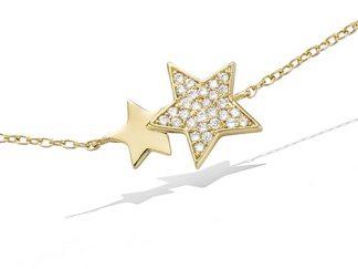 Bracelet or double étoiles oxydes