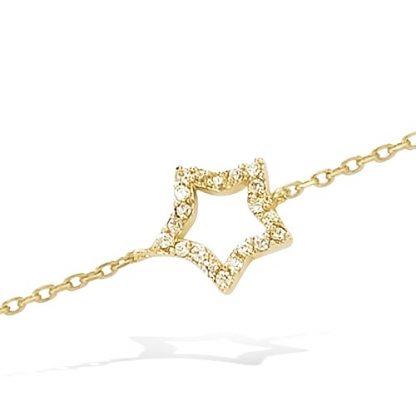 Bracelet or étoile oxydes