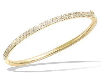 Bracelet jonc or trois rangées