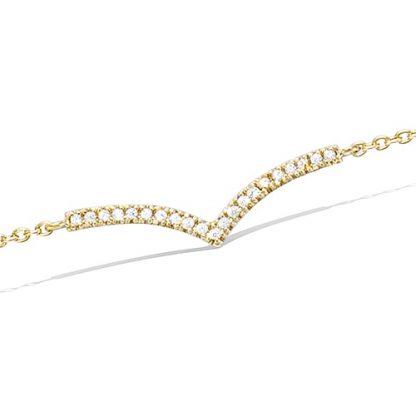 Bracelet or oxydes blancs V