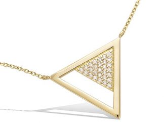 Collier or triangle pavée oxydes