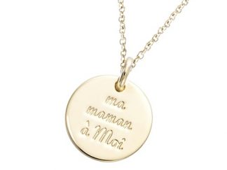 Pendentif or médaille Ma Maman