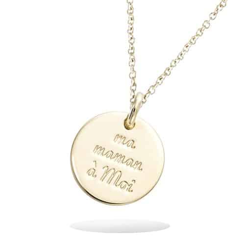 Pendentif or médaille Ma Maman