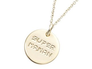 Pendentif or médaille SUPER MAMAN