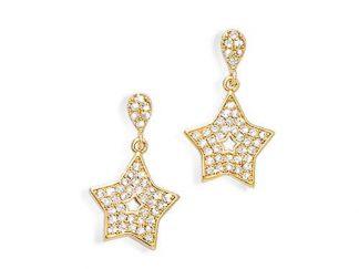 Boucle oreille or étoile double