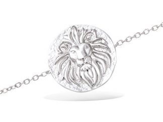 Bracelet argent lion antique