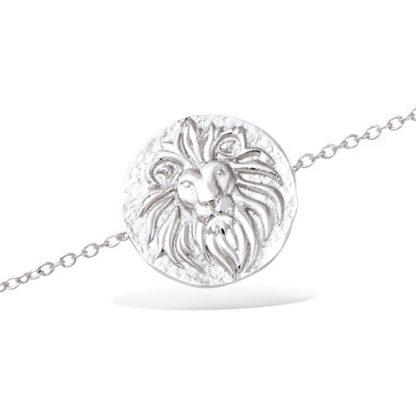 Bracelet argent lion antique