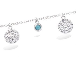 Bracelet argent pampille turquoise