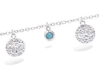 Bracelet argent pampille turquoise
