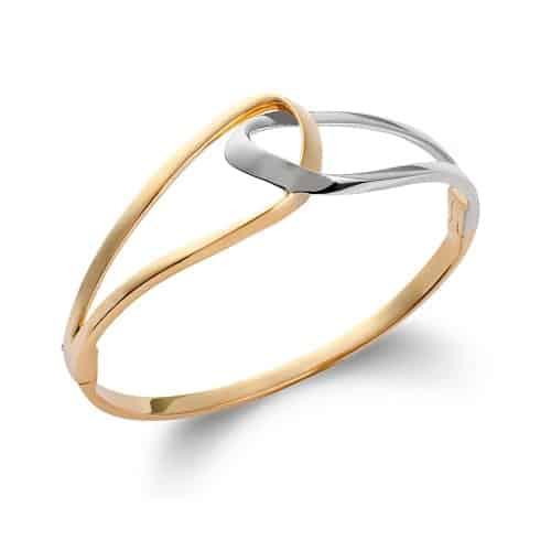 Bracelet or jonc entrelacs