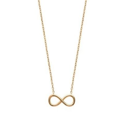 Collier or forme infini lisse
