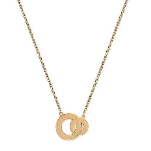 Collier or anneau entrelacé