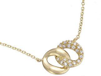 Collier or anneau entremêlée