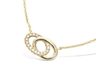Collier or double cercles oxydes