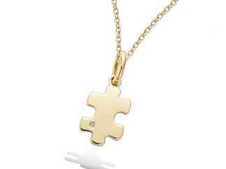 Pendentif or puzzle oxydes