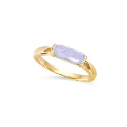 Bague or rectangle Milky lavande