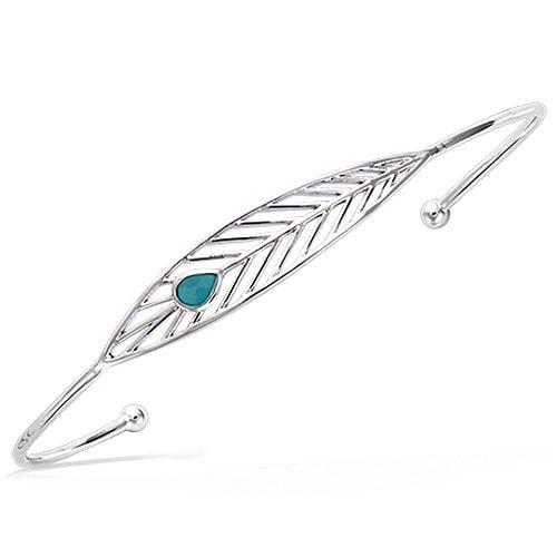 Bracelet jonc argent turquoise