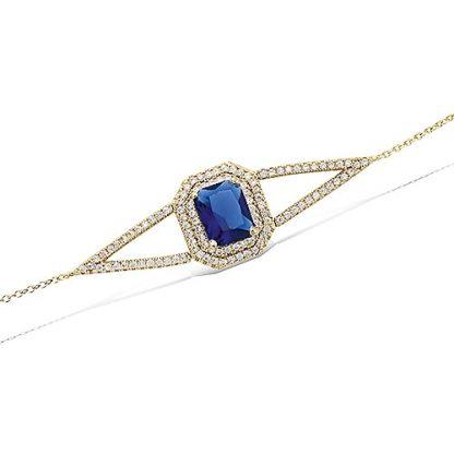 Bracelet rectangle saphir oxydes