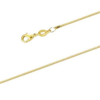 chaine maille serpent carré plaqué or